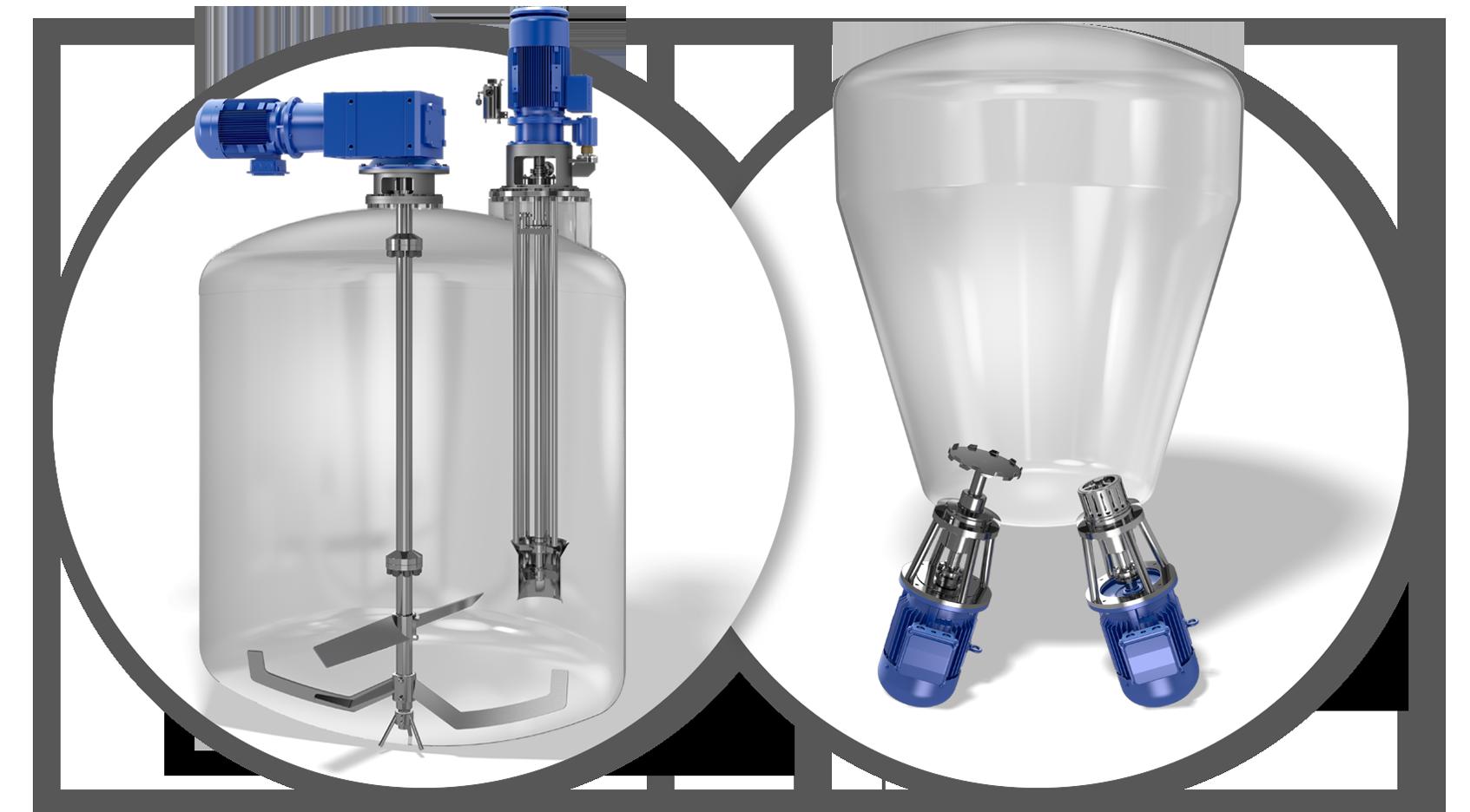 Misch- und Lagertank für kosmetische Produkte und Emulsionsreaktor im Einsatz
